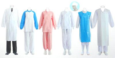 クラユニ フードユニフォーム 食品白衣 イメージ